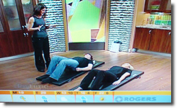 Jacqueline Betterton doing Pilates on Rogers Daytime
